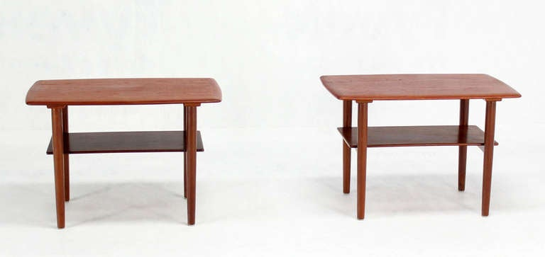 Pair of Mid-Century Danish Modern Teak End Tables by Povl Dinesen For Sale 2