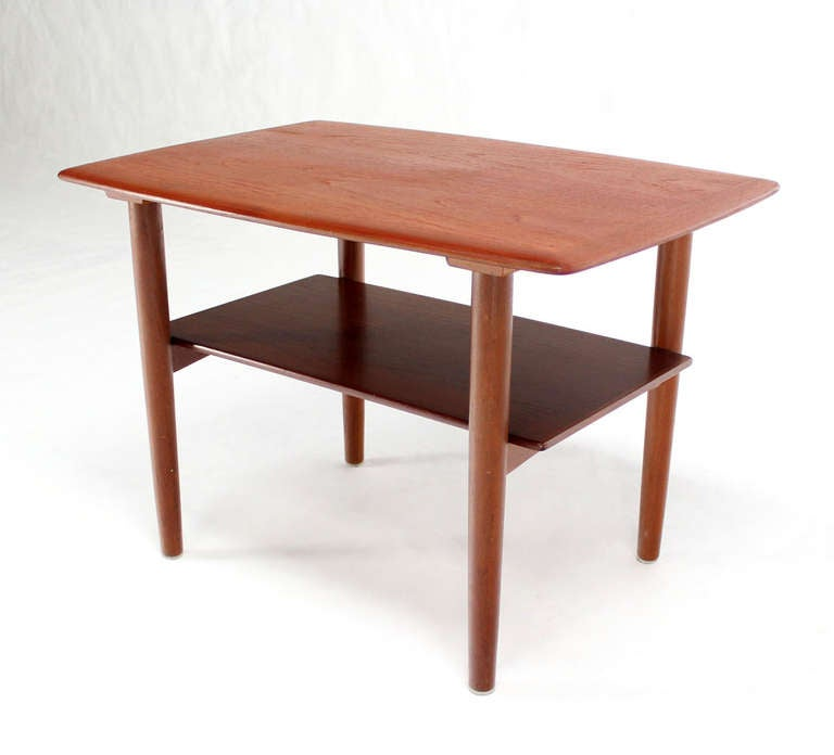 20th Century Pair of Mid-Century Danish Modern Teak End Tables by Povl Dinesen For Sale