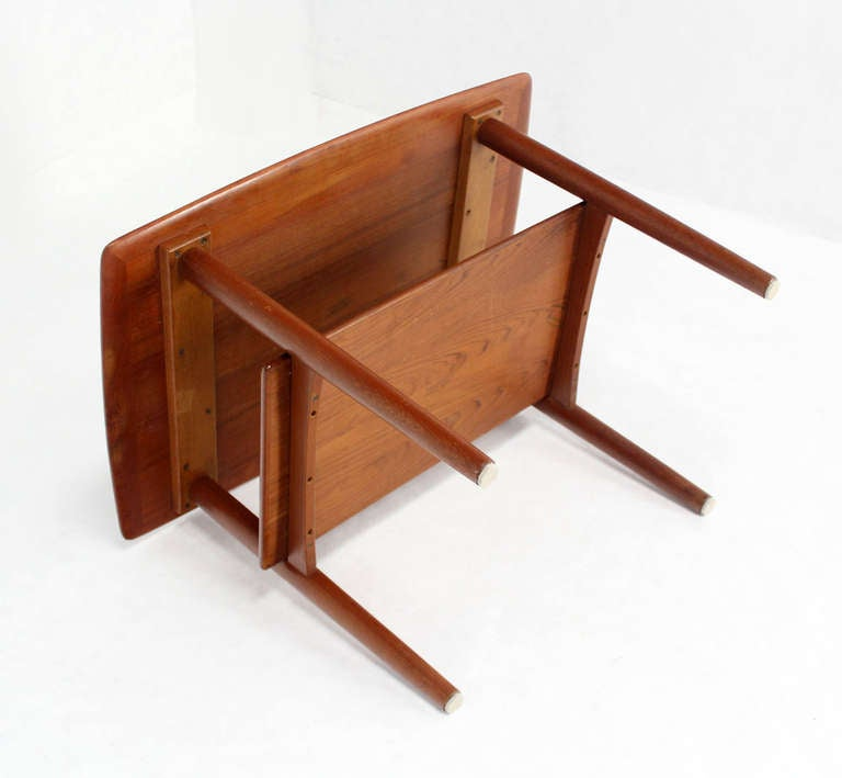 Pair of Mid-Century Danish Modern Teak End Tables by Povl Dinesen In Excellent Condition For Sale In Rockaway, NJ