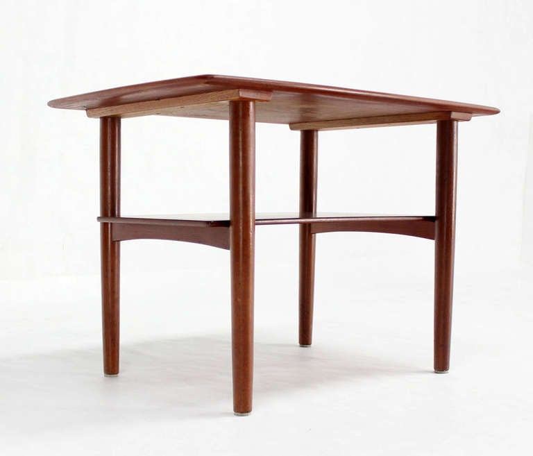 Pair of Mid-Century Danish Modern Teak End Tables by Povl Dinesen For Sale 1