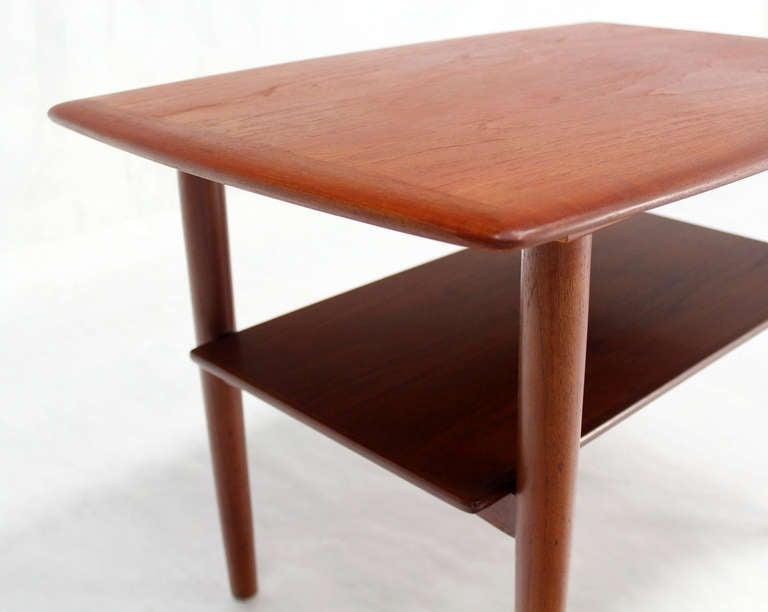 Pair of Danish mid century modern teak end tables.