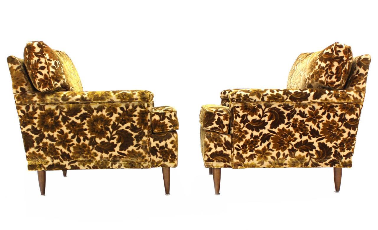 Pair Of Mid Century Modern Lounge Club Chairs Circa 1950s