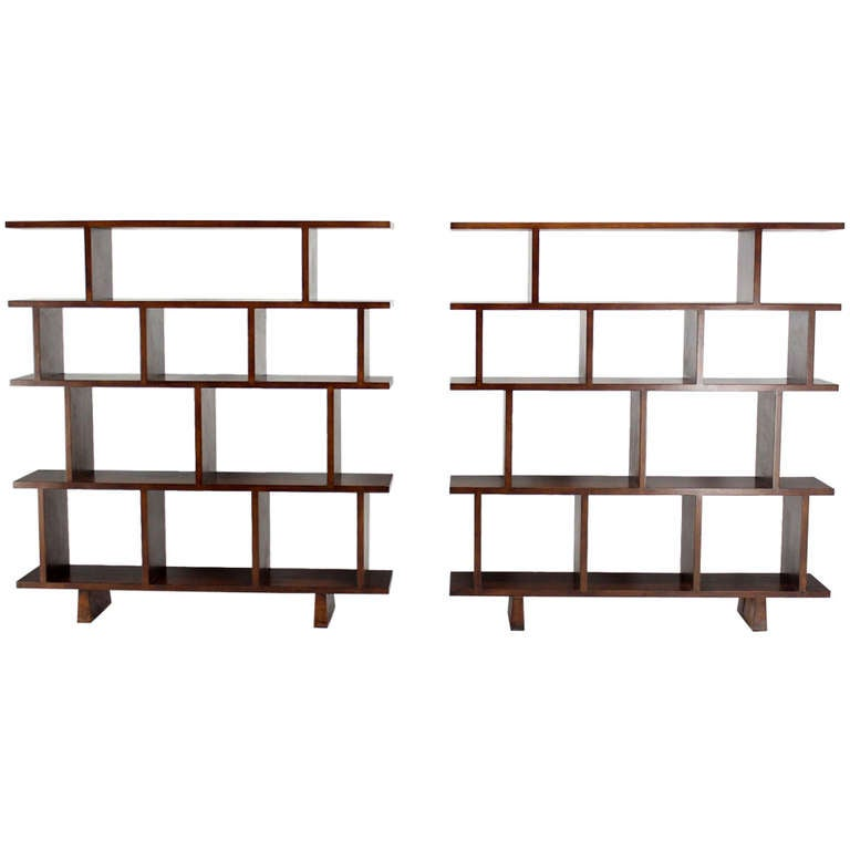 ... Large Open Back Bookcases Shelves Wall Units Room Dividers at 1stdibs