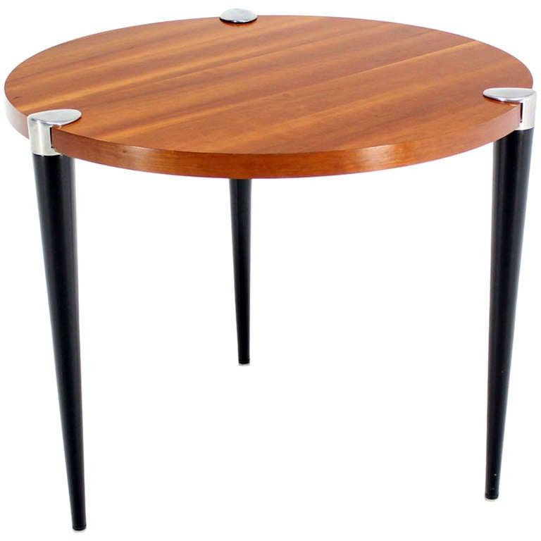 3 legged gueridon modern round breakfast cafe dining table mid century at 1stdibs. Black Bedroom Furniture Sets. Home Design Ideas