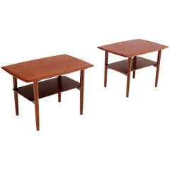 Pair of Mid-Century Danish Modern Teak End Tables by Povl Dinesen