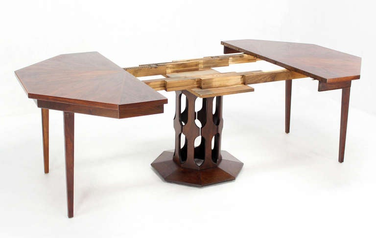 Oiled Walnut Octagonal Two Leaf Dining Table in the Style  : IMG8665l from 1stdibs.com size 768 x 487 jpeg 24kB