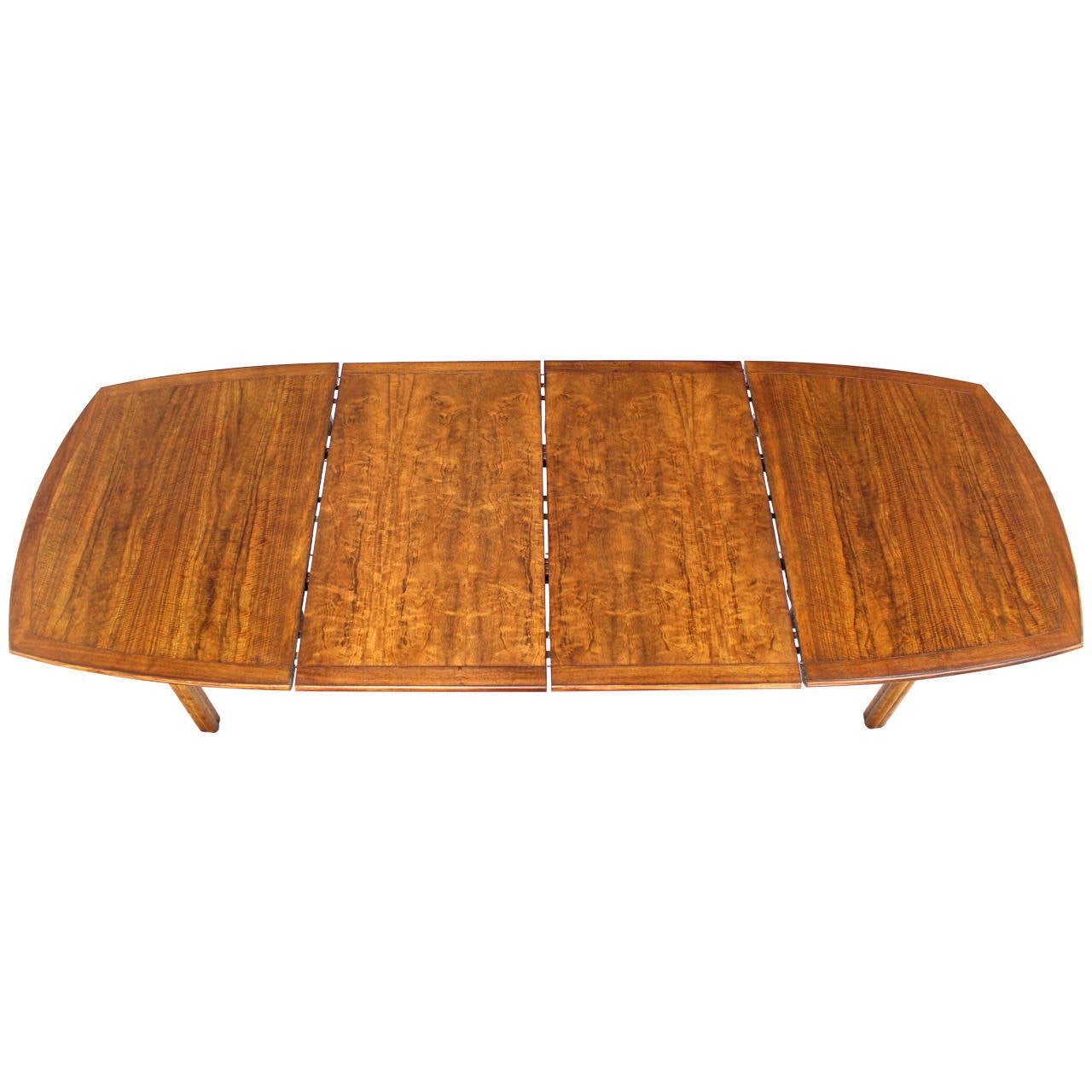 Baker Mid Century Modern Dining Table With Two Leaves For Sale At