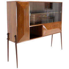 Mid Century Danish Modern Walnut Diamond Front Credenza Long Dresser At 1stdibs