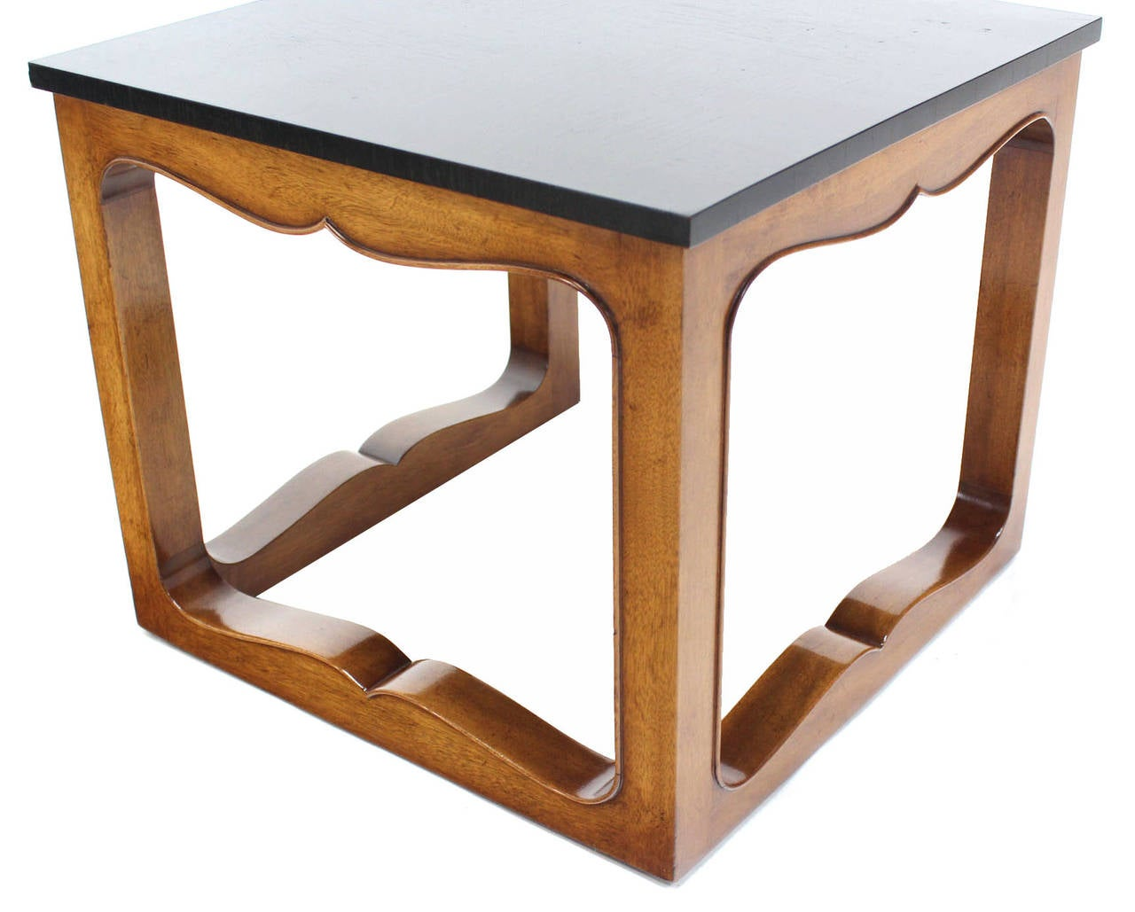 American Pair of Mike Talor for Baker Square Cube Shape Side End Tables For Sale