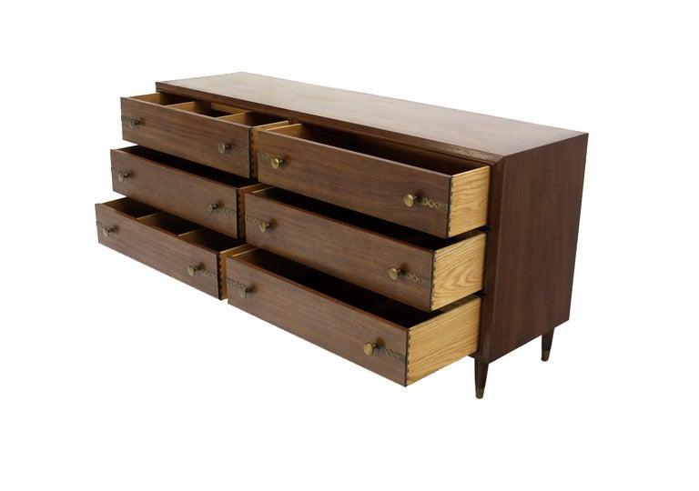 Johnson for John Stuart Mid-Century Modern Walnut Dresser 5