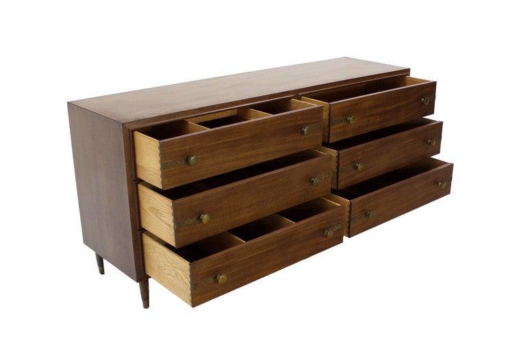 Johnson for John Stuart Mid-Century Modern Walnut Dresser 7