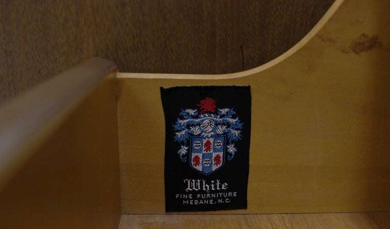 Walnut Mid Century Modern Burlwood Long Credenza Dresser Matching Mirror For Sale
