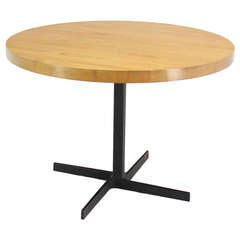 Heavy Cast Iron Base Round Dining Table