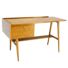 Edmond Spence Mid-Century Swedish Modern Blonde Maple Desk