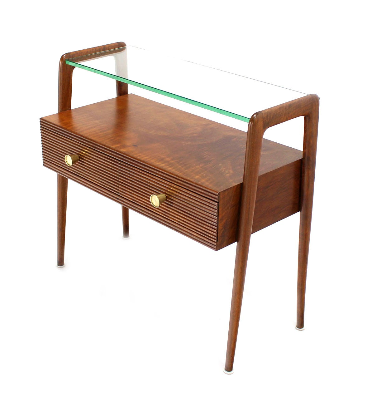 Pair of italian mid century modern walnut end tables or for Walnut side table