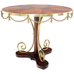 Bronze Ormolu, Neoclassical Gueridon Center Table