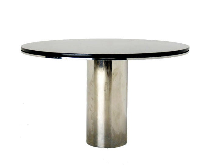 Brueton Granite Top Chrome Base Dining Table Anello At 1stdibs