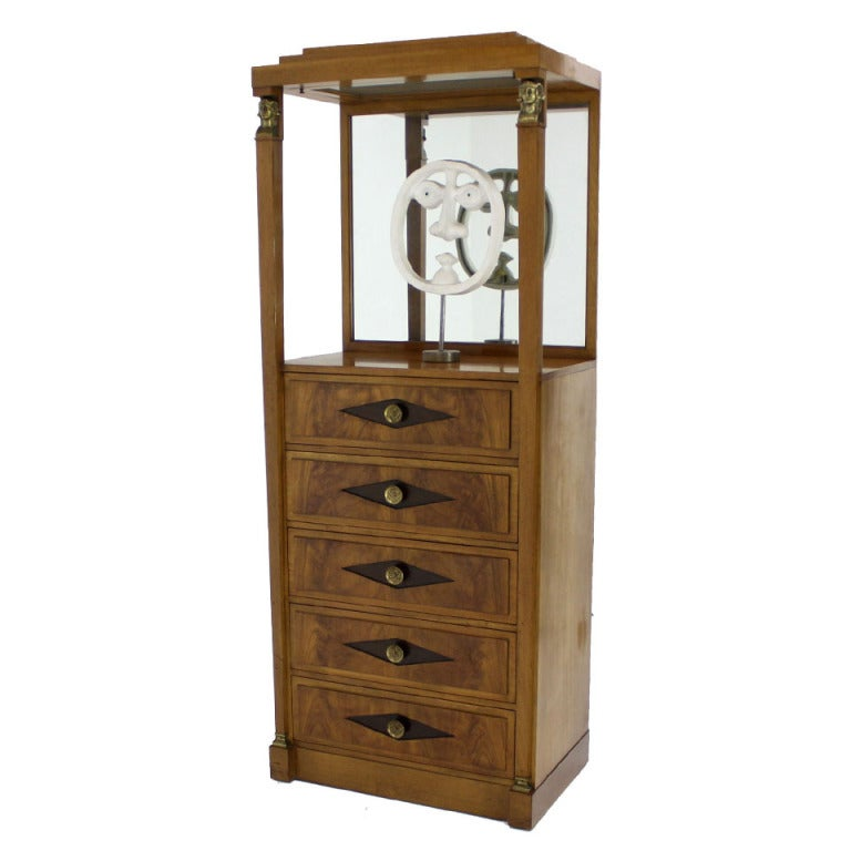 Empire Vitrine Light Up Display Cabinet or Chest of Drawers For ...