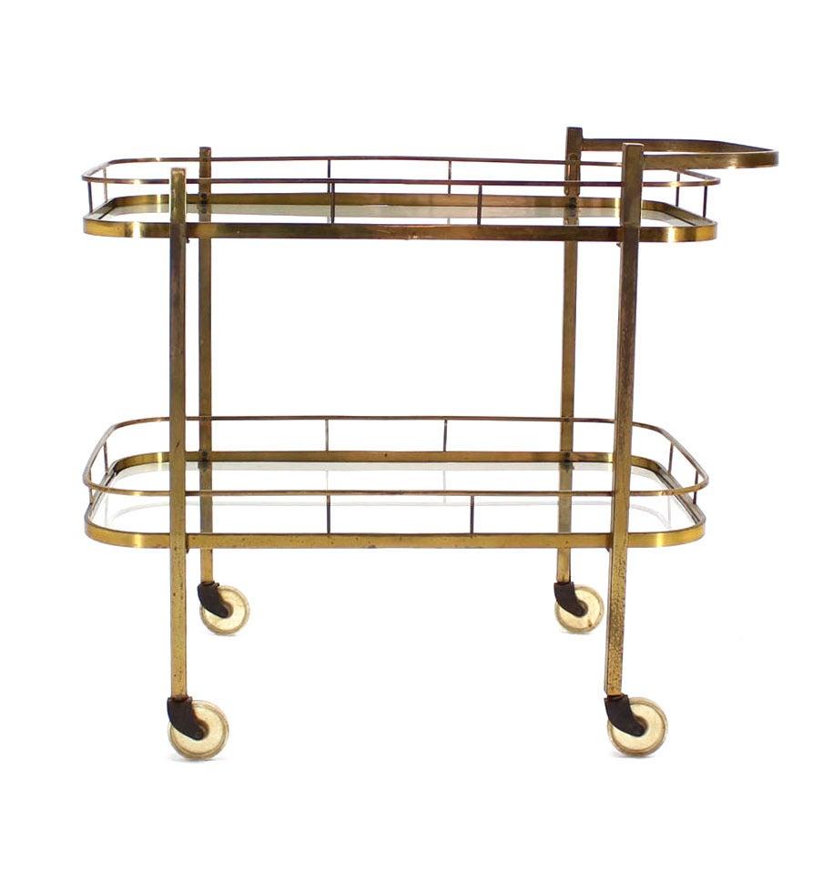 Brass Tea or Bar Cart For Sale 3