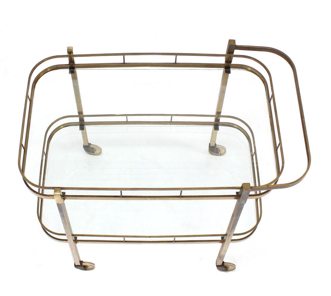 Brass Tea or Bar Cart For Sale 2