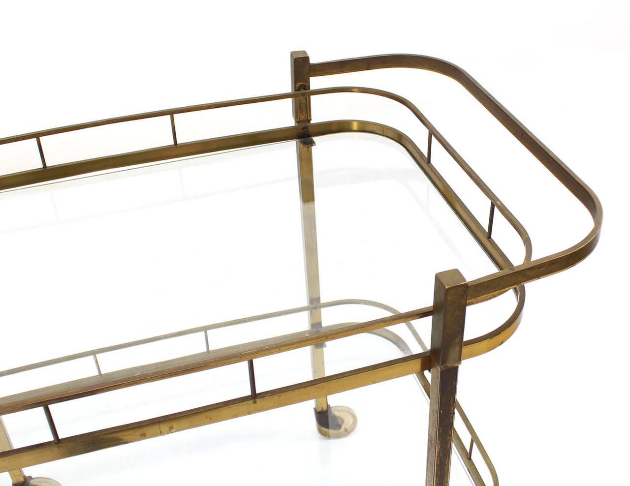 Brass Tea or Bar Cart For Sale 1
