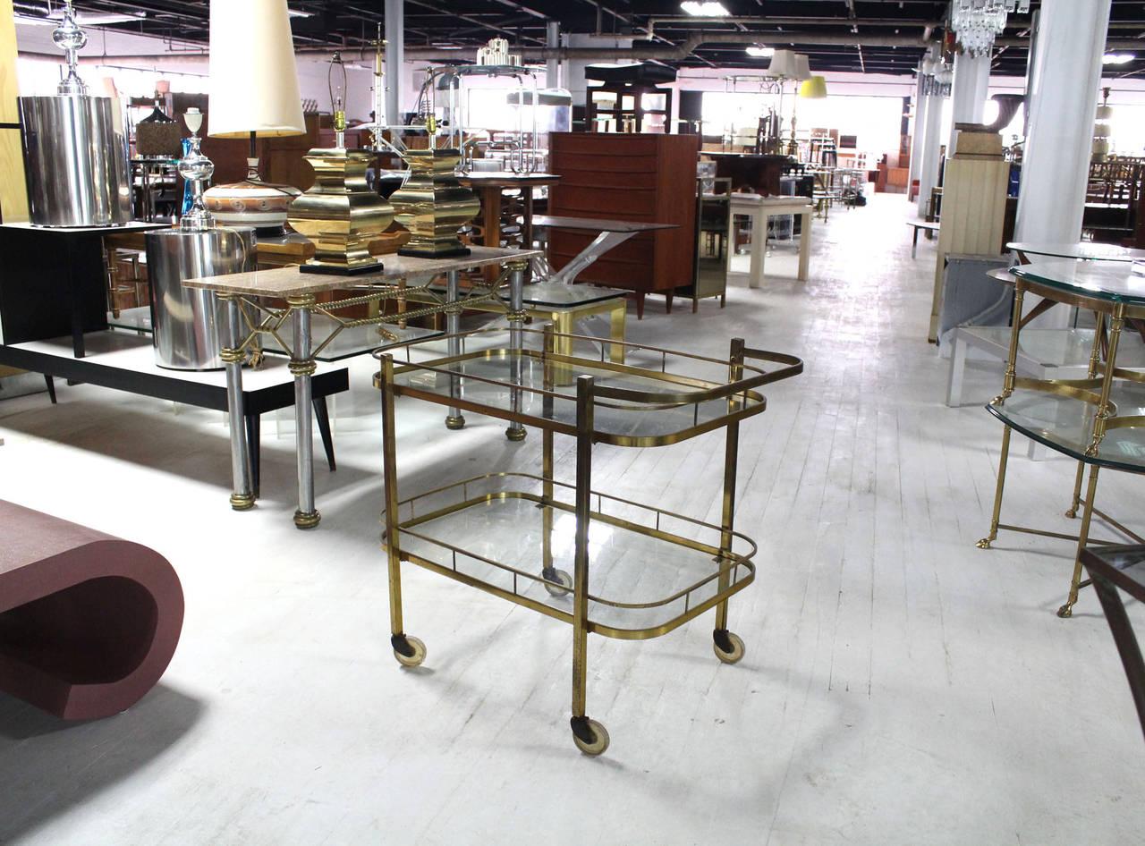 Brass Tea or Bar Cart For Sale 4