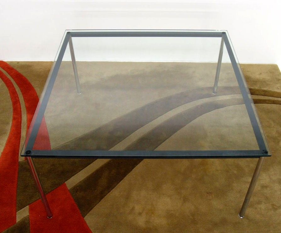 le corbusier cassina dining table lc10 at 1stdibs. Black Bedroom Furniture Sets. Home Design Ideas