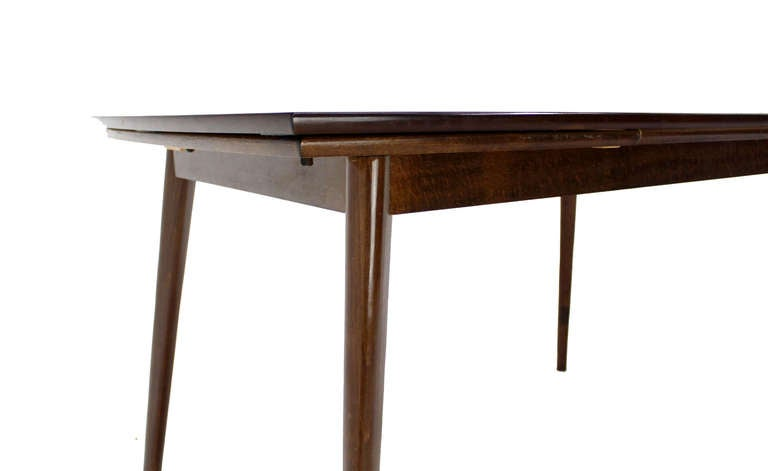 mid century danish modern dining table with six chairs set at 1stdibs