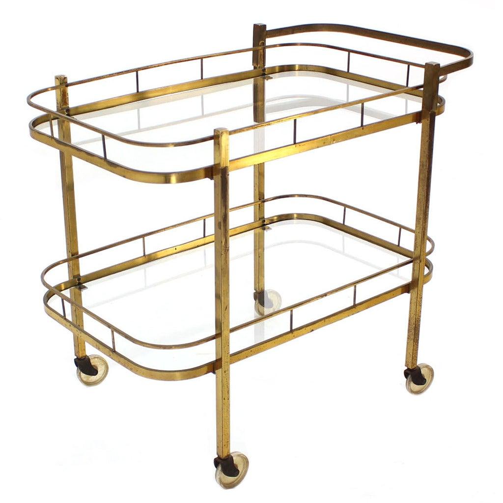 brass tea or bar cart at 1stdibs. Black Bedroom Furniture Sets. Home Design Ideas
