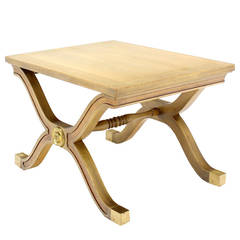 Hollywood Regency X-Base Side Table or Stool