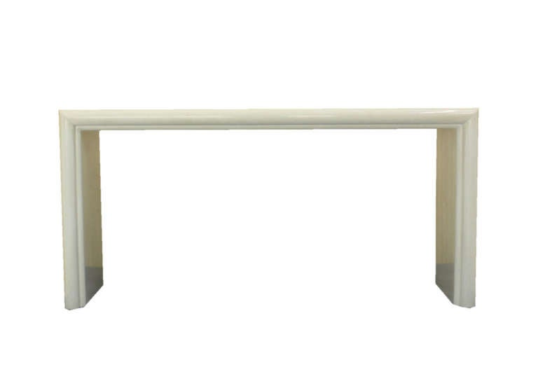 White Lacquer Mid Century Modern Console Table At 1stdibs