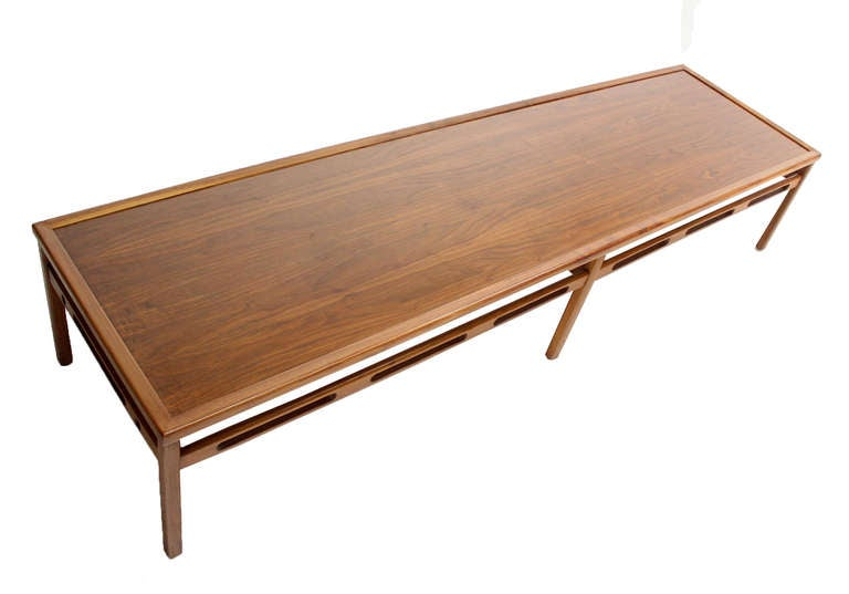 Oversized Walnut Coffee Display Table For Sale At 1stdibs
