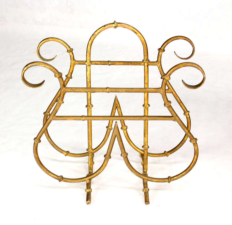 Very decorative faux bamboo metal magazine rack