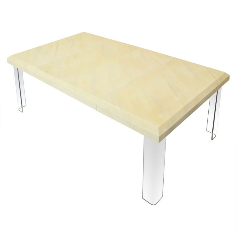 this mid century modern square white lacquer dining table 2 extensions
