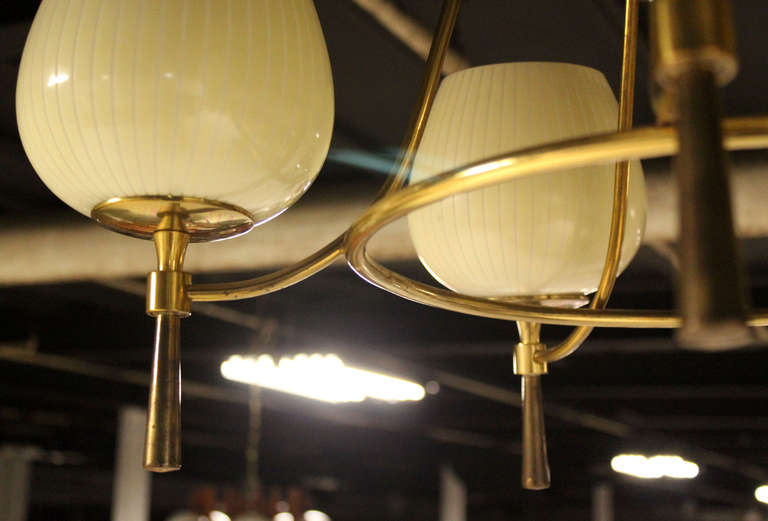 Mid century danish modern five light chandelier at 1stdibs for Danish modern light fixtures
