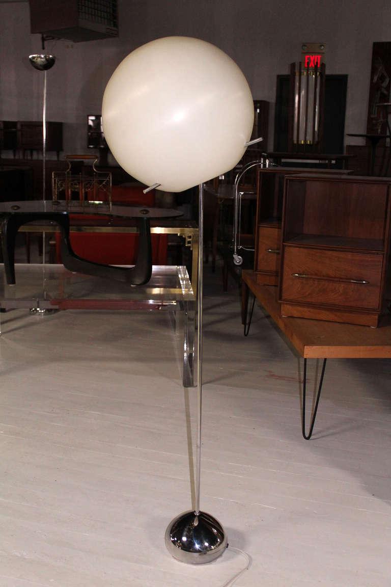 Large Diameter Ball Globe Adjustable Floor Lamp With