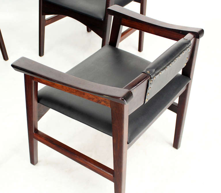 Set of Four Danish Mid-Century Modern Rosewood Dining Chairs 3