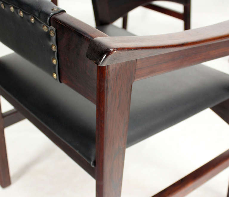 Set of Four Danish Mid-Century Modern Rosewood Dining Chairs 2