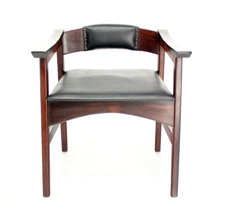Set of Four Danish Mid-Century Modern Rosewood Dining Chairs 7