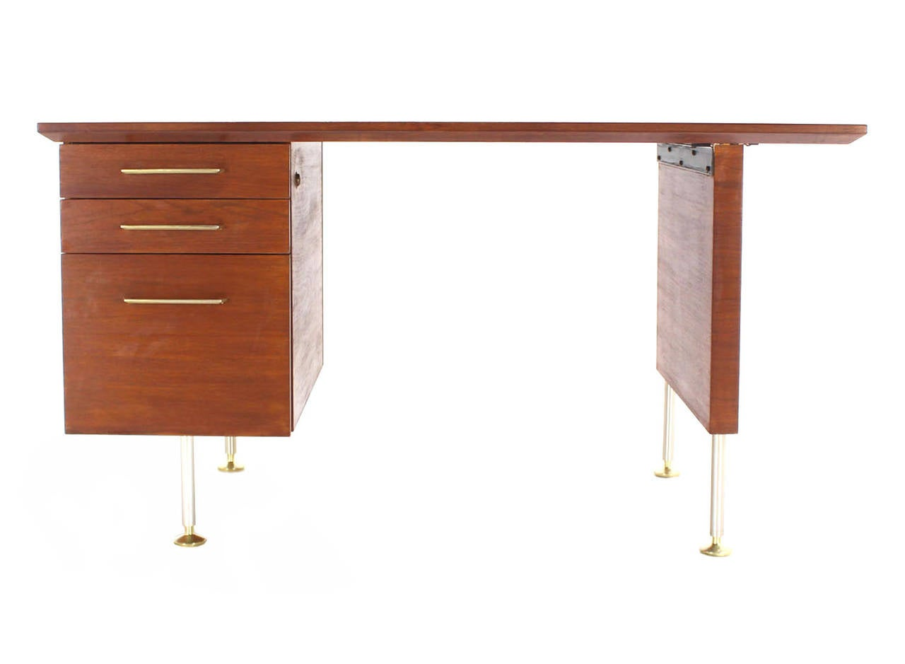 Walnut Mid Century Danish Modern Desk For Sale At 1stdibs
