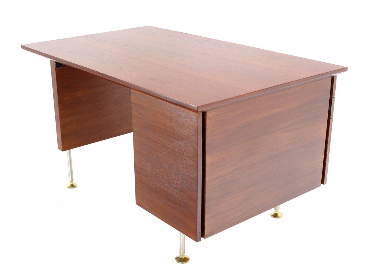 Walnut mid century danish modern desk for sale at 1stdibs for Modern office desk for sale