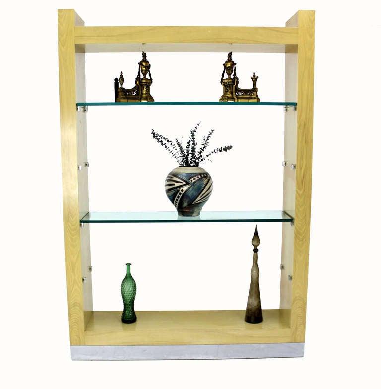 mid century modern shelving unit at 1stdibs. Black Bedroom Furniture Sets. Home Design Ideas