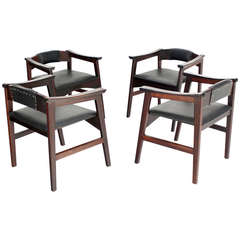 Set of Four Danish Mid-Century Modern Rosewood Dining Chairs