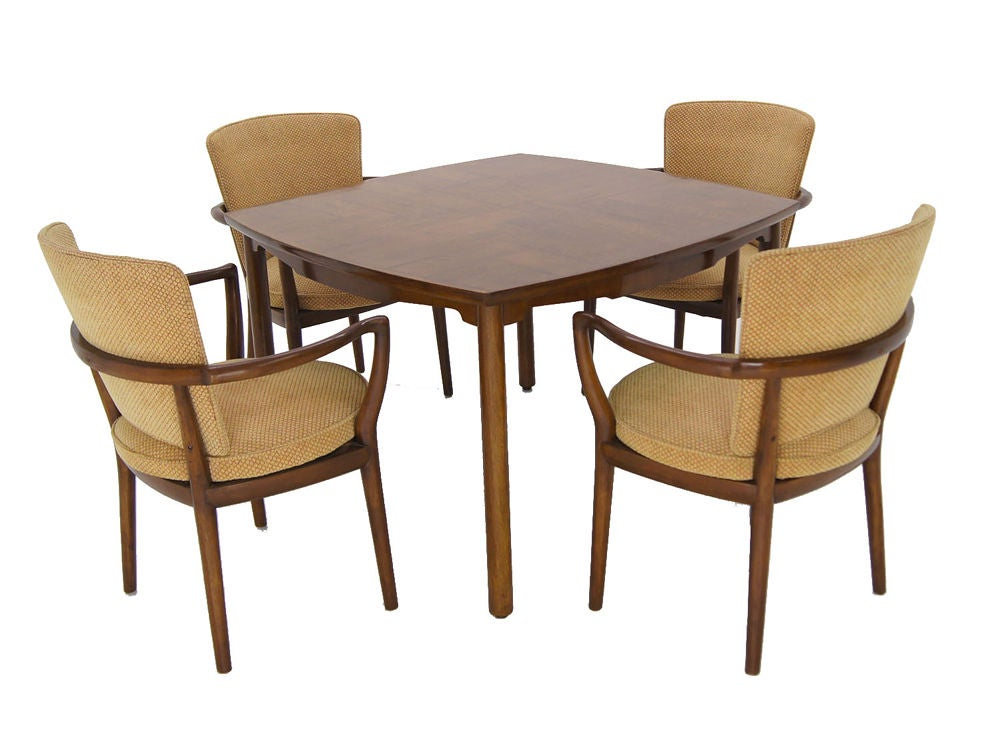 Widdicomb bridge set game table 4 chairs at 1stdibs for Table bridge