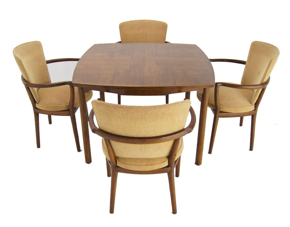 Widdicomb bridge set game table 4 chairs at 1stdibs for Contemporary game table and chairs