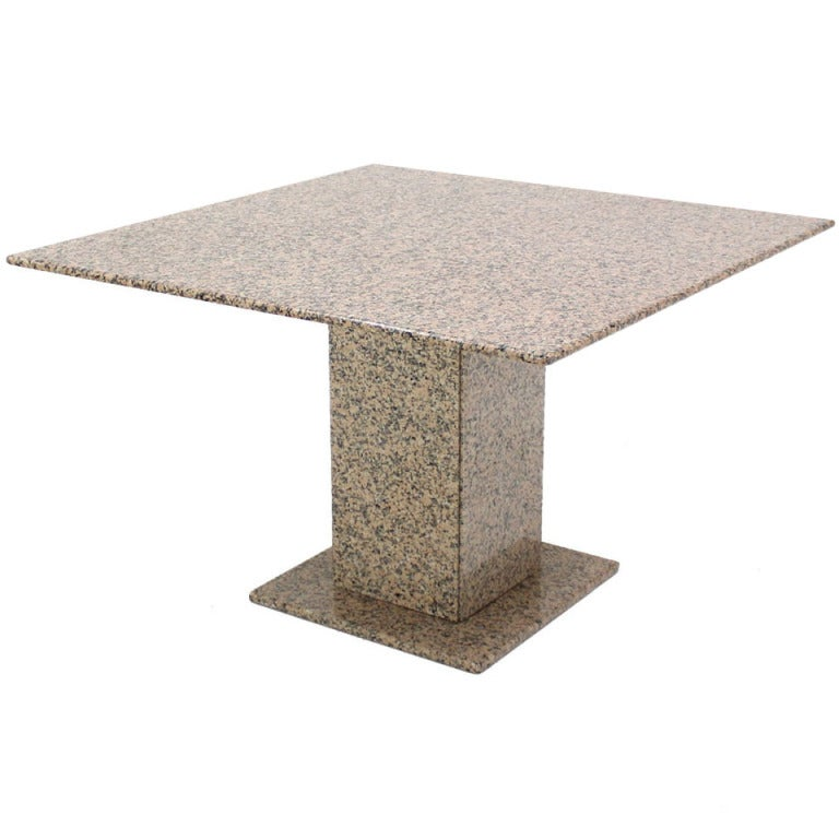mid century modern 48 square granite dining conference game table at 1stdibs. Black Bedroom Furniture Sets. Home Design Ideas