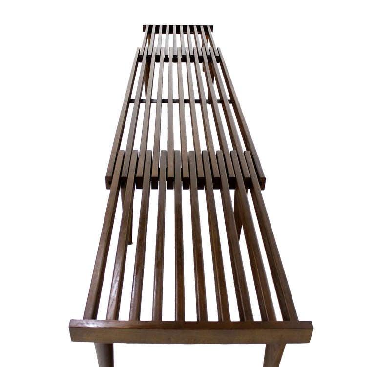 Expanding Danish Mid Century Modern Slat Bench Or Coffee