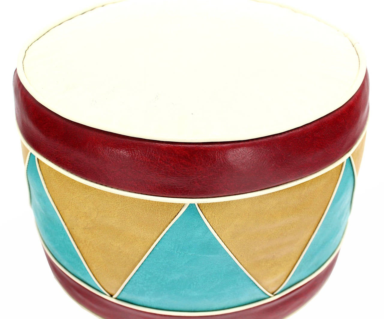 1960s Multicolored Hassock Foot Stool Or Ottoman At 1stdibs