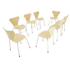 Set of 8 Arne Jacobsen for Fritz Hansen 7 Series Chairs