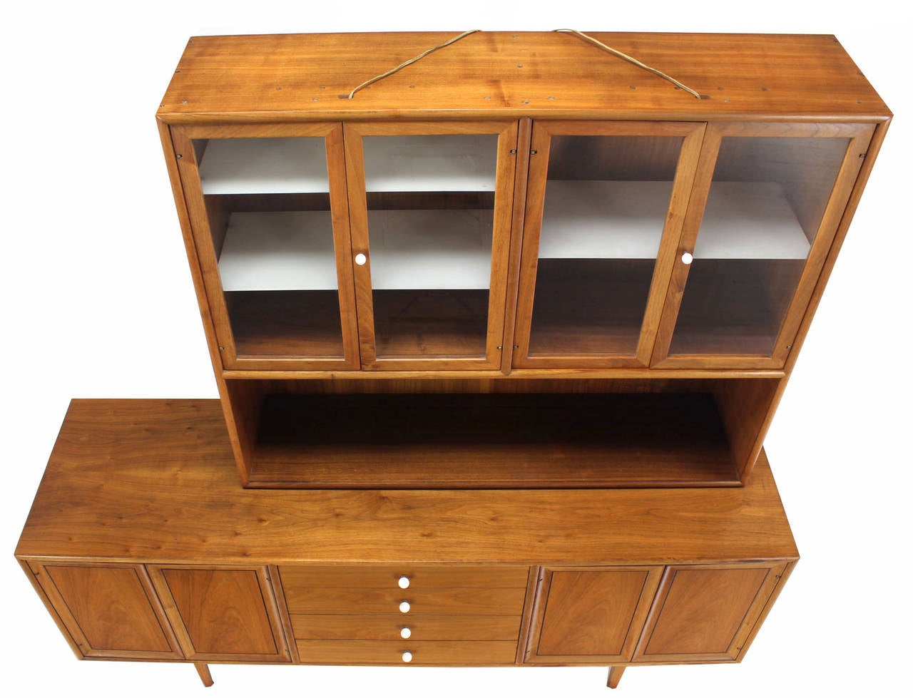 American Drexel Declaration Two Part Cabinet For Sale